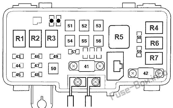 Fuse Box Diagram Honda S2000 (1999-2009)