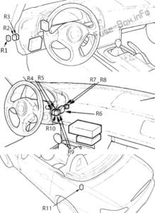 Fuse Box Diagram Honda S2000 (1999-2009)