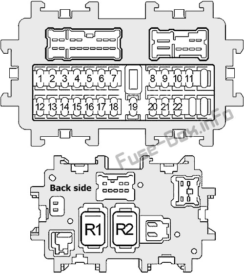 Fuse Box Diagram Infiniti M35, M45 (Y50; 2006-2010)