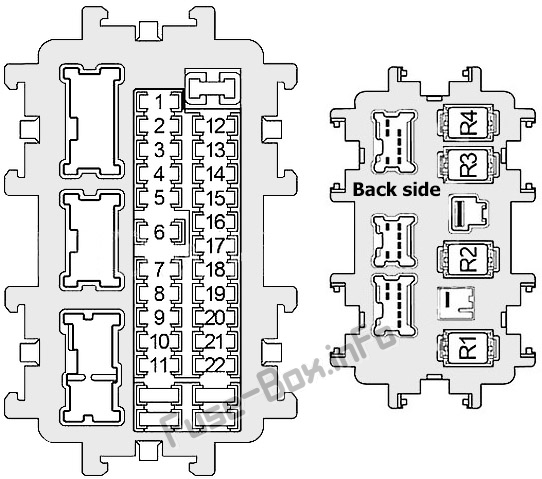 Fuse Box Diagram Infiniti M37 / M56 (Y51; 2010-2012)