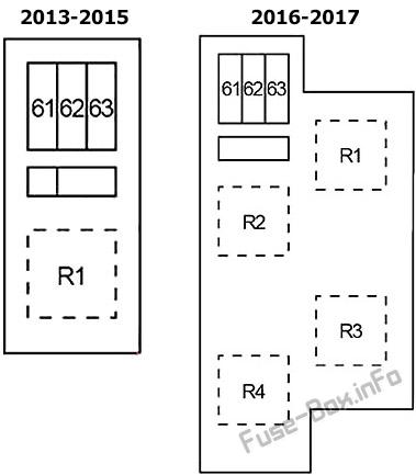 Fuse Box Diagram Infiniti QX50 (2013-2017)