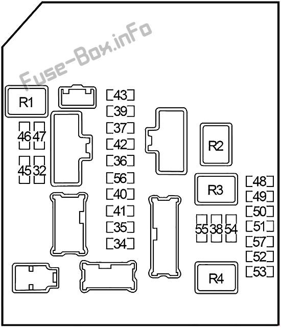 Fuse Box Diagram Infiniti QX56 (JA60; 2004-2010)