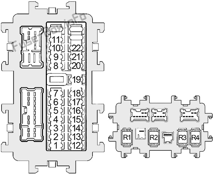 Fuse Box Diagram Nissan Quest (RE52; 2011-2017)