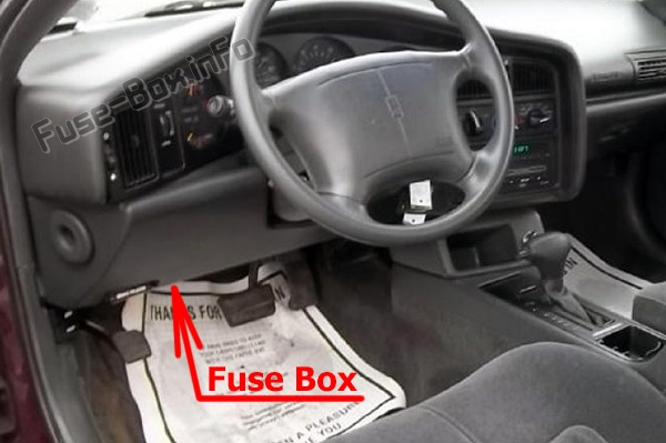1993 Oldsmobile Cutlass Under Dash Fuse Box Diagram
