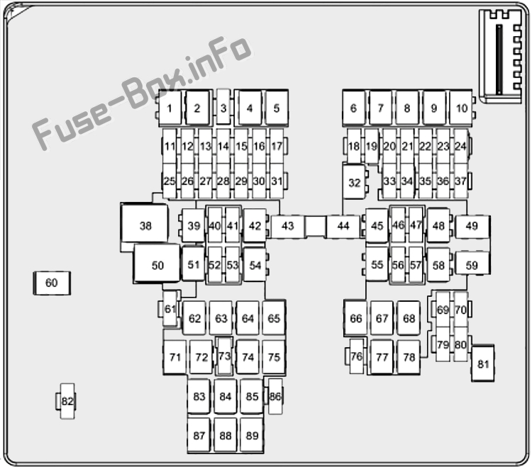 Fuse Box Diagram Ford Puma (2019-2020...)