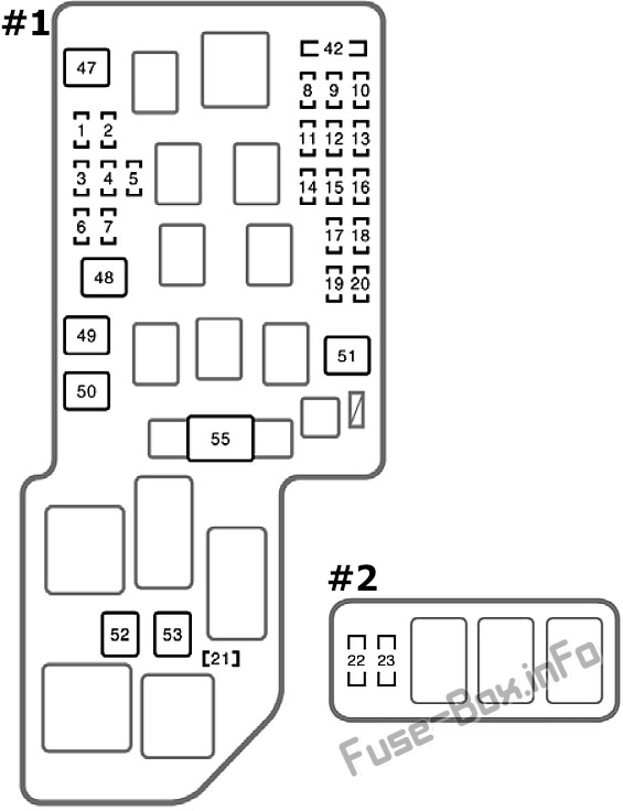 Fuse Box Diagram Toyota Celica (T230; 1999-2006)