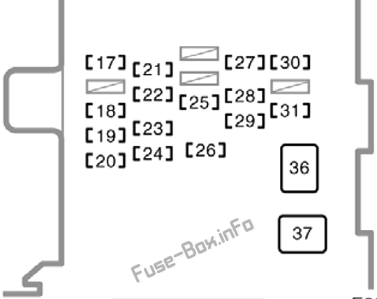 Fuse Box Diagram Toyota Corolla (E110; 1998-2002)