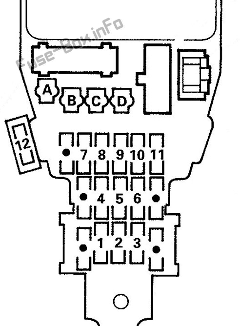 Fuse Box Diagram Isuzu Oasis (1996-1999)