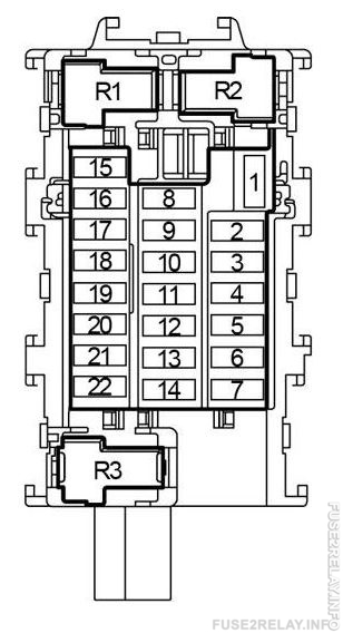 Ranault Capture (from 2013) fuse relay box diagram