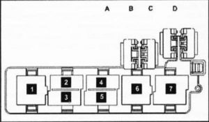 Fuse box diagram Volkswagen Passat B6 CC and relay with