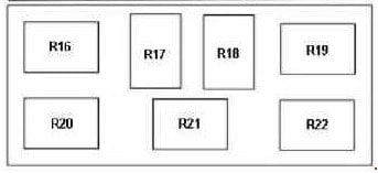 Fuse box diagram Ford Transit 6 and relay with assignment