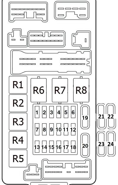 Fuse relay box Mitsubishi Montero Outlander 1 (Airtrek