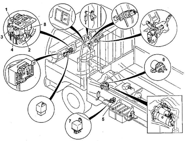 Fuse box diagram Mazda Titan and relay their location and