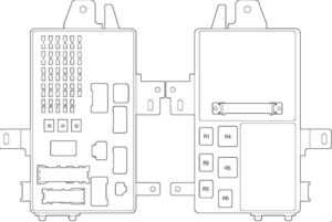 Fuse box diagram Toyota Camry 30 and relay with assignment