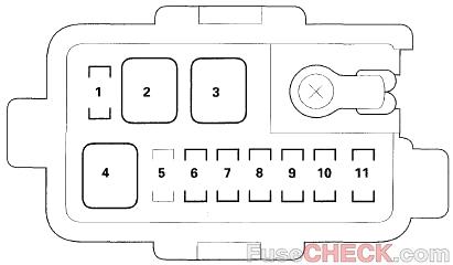 Acura MDX (YD1; 2001-2006) Fuse Diagram • FuseCheck.com