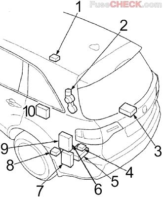Acura MDX (YD2; 2007-2013) Fuse Diagram • FuseCheck.com