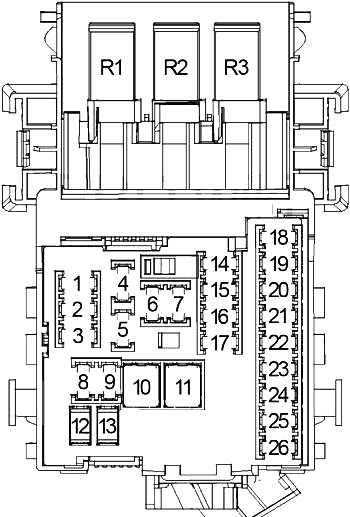 Chevrolet Malibu (2013-2015) Fuse Diagram • FuseCheck.com