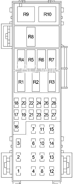 Dodge Durango (2004-2009) Fuse Diagram • FuseCheck.com