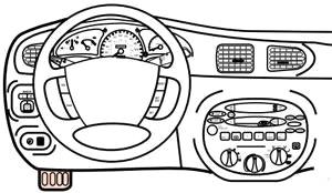 Ford Escort / Escort ZX2 (1997-2003) Fuse Diagram