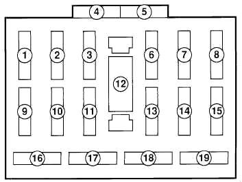 Ford Festiva (1988-1993) Fuse Diagram • FuseCheck.com