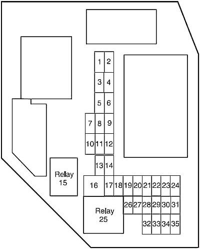 Ford Ranger (2004-2012) Fuse Diagram • FuseCheck.com
