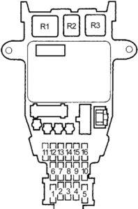 Honda Accord (1990-1993) Fuse Diagram • FuseCheck.com