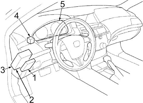 Honda Crosstour (2010-2015) Fuse Diagram • FuseCheck.com