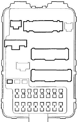 Honda Pilot (2003-2008) Fuse Diagram • FuseCheck.com