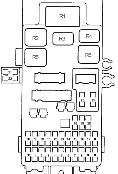 Honda Prelude (1997-2001) Fuse Diagram • FuseCheck.com