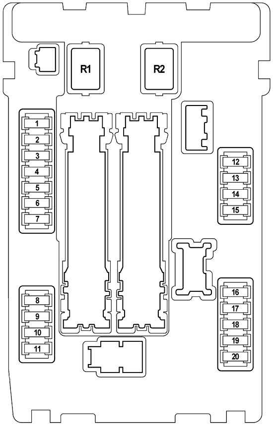 Infiniti FX35, FX50, QX70 (2008-2017) Fuse Diagram