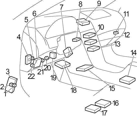Infiniti I30, I35 (1999-2004) Fuse Diagram • FuseCheck.com
