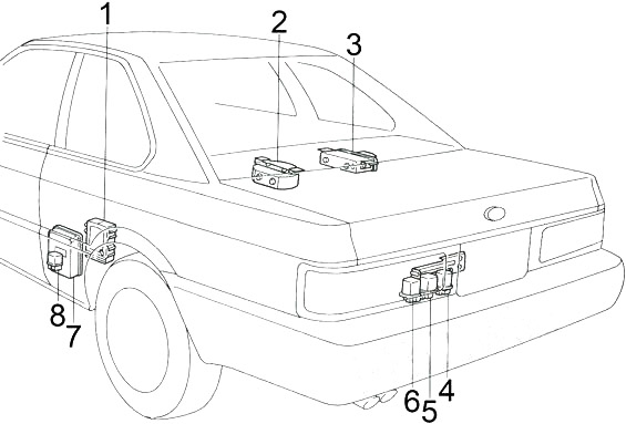 Infiniti M30 and Nissan Leopard (1990-1992) Fuse Diagram
