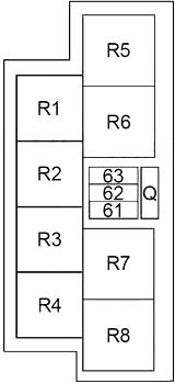 Infiniti M37, M56, Q70, M35h (2011-2018) Fuse Diagram