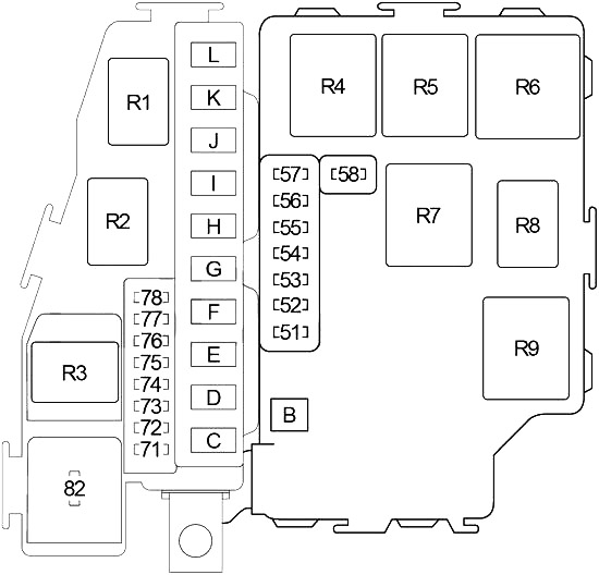 Infiniti M45 and Nissan Gloria (2003-2004) Fuse Diagram