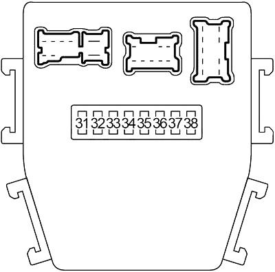 Infiniti M45 and Nissan Gloria (2003-2004) Fuse Diagram