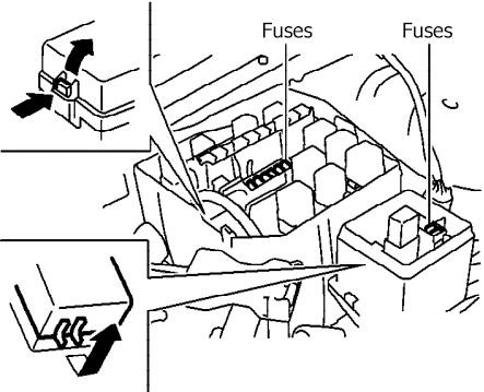 Infiniti Q45, Nissan Cima, President (2002-2006) Fuse Diagram