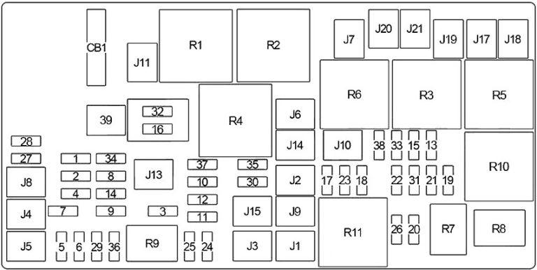 Jeep Wrangler JK (2006-2018) Fuse Diagram • FuseCheck.com