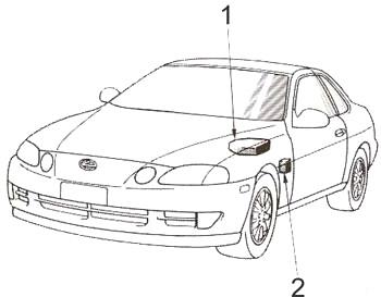 Lexus SC 300, SC 400 (Z30) (1991-2000) Fuse Diagram