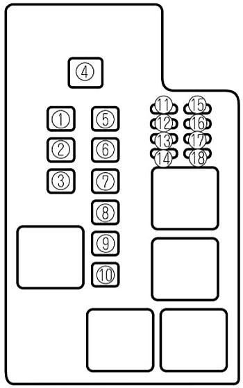 Mazda 626 (1997-2002) Fuse Diagram • FuseCheck.com