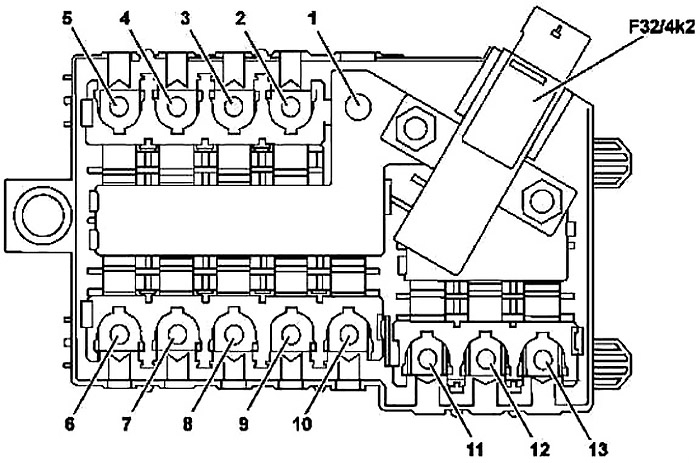 Mercedes-Benz C-Class (W205) (2015-2019) Fuse Diagram