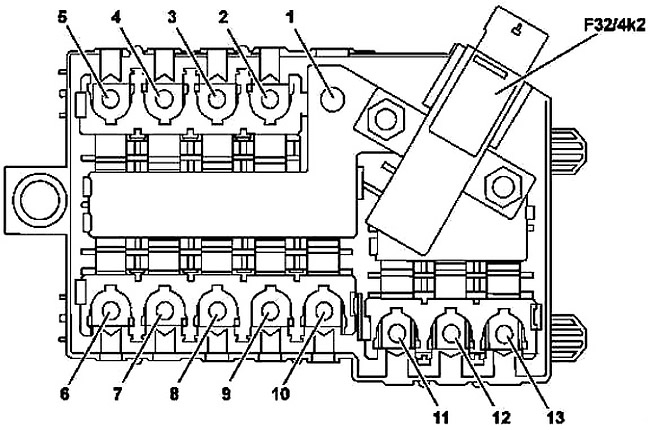 Mercedes-Benz GLC-Class (X253) (2015-2019) Fuse Diagram