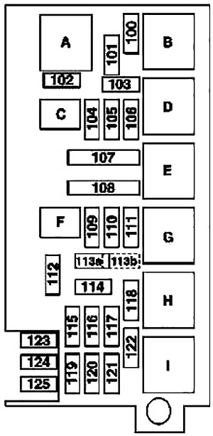 Mercedes-Benz ML-Class (W164) (2005-2011) Fuse Diagram