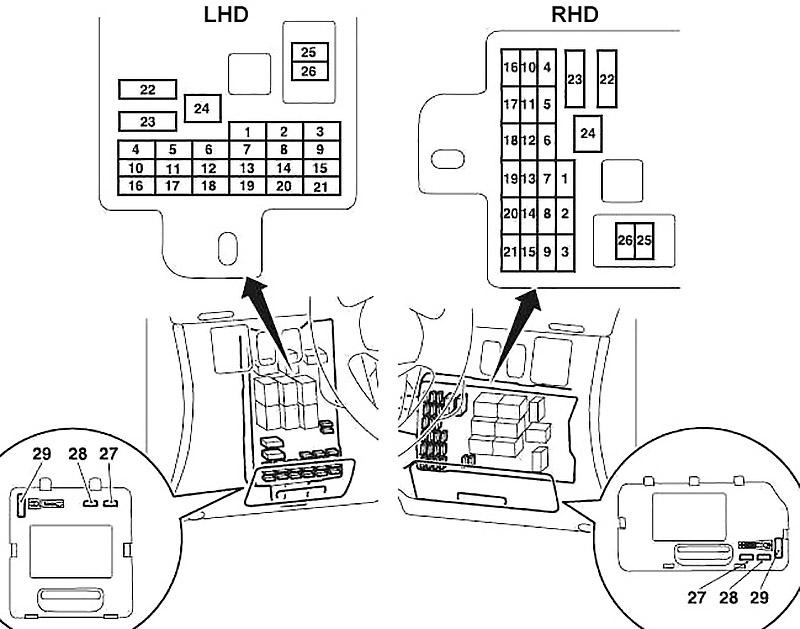 Mitsubishi L200 (2005-2015) Fuse Diagram • FuseCheck.com