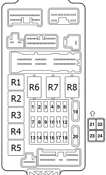 Mitsubishi Lancer IX (2000-2007) Fuse Diagram • FuseCheck.com