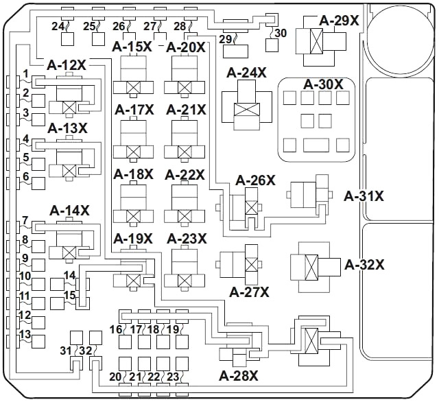 Mitsubishi Lancer X (2007-2017) Fuse Diagram • FuseCheck.com