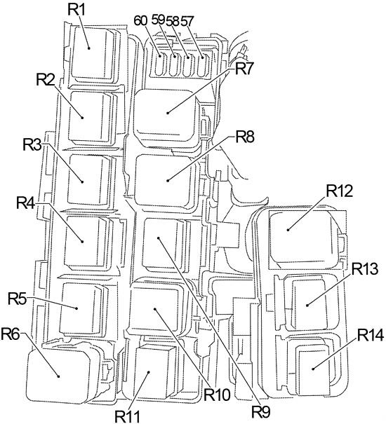 Nissan Frontier (2004-2014) Fuse Diagram • FuseCheck.com