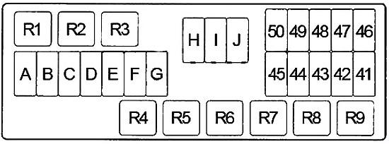 Nissan Quest (1996-1998) Fuse Diagram • FuseCheck.com