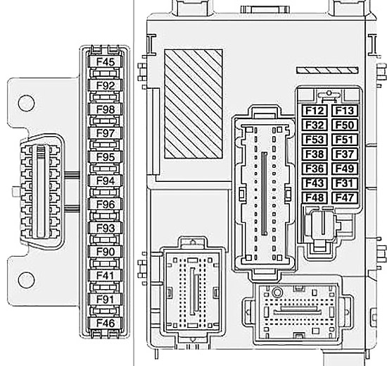 Opel / Vauxhall Combo D (2011-2017) Fuse Diagram