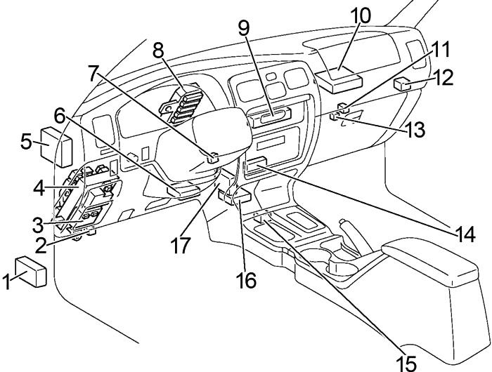 Toyota 4Runner (1996-1998) Fuse Diagram • FuseCheck.com