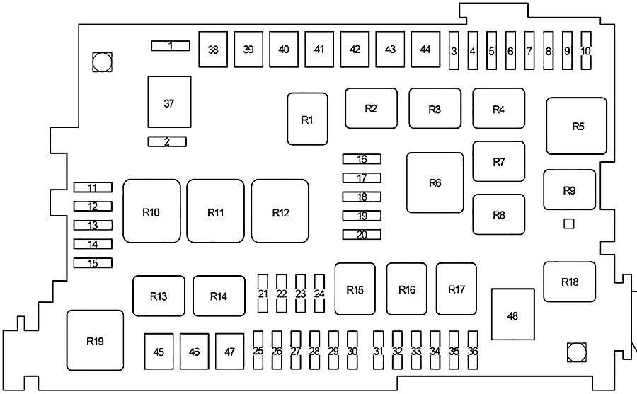 Toyota 4Runner (2002-2009) Fuse Diagram • FuseCheck.com